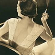 A Glamourous Woman Smoking Art Print