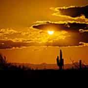 A Golden Southwest Sunset  Art Print