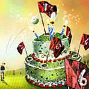 A Golfers Birthday Cake Art Print