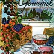 A Gourmet Cover Of A Fruit Basket Art Print