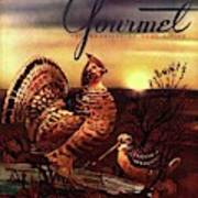 A Gourmet Cover Of A Turkey Art Print