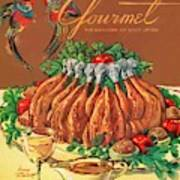 A Gourmet Cover Of Chicken Art Print