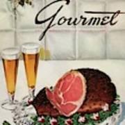 A Gourmet Cover Of Ham Art Print