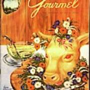 A Gourmet Cover Of Tete De Veau Art Print