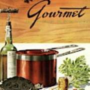 A Gourmet Cover Of Turtle Soup Ingredients Art Print
