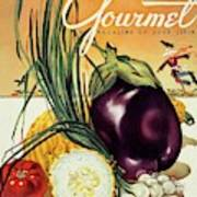 A Gourmet Cover Of Vegetables Art Print
