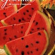 A Gourmet Cover Of Watermelon Sorbet Art Print