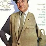 A Gq Cover Of Rex Harrison Art Print