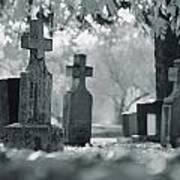 A Graveyard Art Print