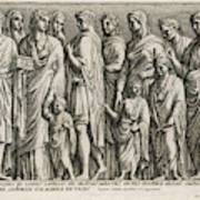 A Group Of Roman Citizens Art Print