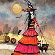 A Halloween Stroll Art Print by Molly Harrison