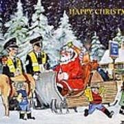 A Happy Christmas Art Print