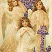 A Happy Easter 1908 German Postcard Art Print