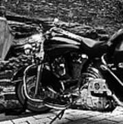 A Harley Davidson And The Virgin Mary Art Print