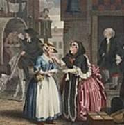 A Harlots Progress, Plate I Print by William Hogarth