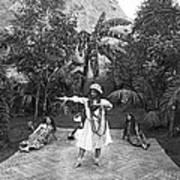 A Hawaiian Woman Dancing Art Print