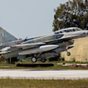 A Hellenic Air Force F-16d Block 52+ Art Print