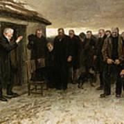A Highland Funeral Art Print