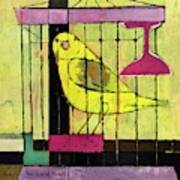 A House And Garden Cover Of A Bird In A Cage Art Print