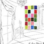 A House And Garden Cover Of Color Swatches Art Print