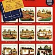 A House And Garden Cover Of Construction Stages Art Print