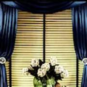 A House And Garden Cover Of Flowers By A Window Art Print