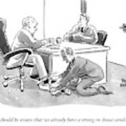 A Job Interviewer Tells An Interviewee Art Print
