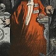 A Judge In Full Garments, Illustration Art Print