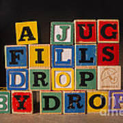 A Jug Fills Drop By Drop Art Print