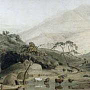 A Kaffir Village, C.1801 Wc & Graphite On Paper Art Print