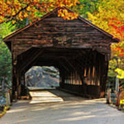 A Kancamagus Gem - Albany Covered Bridge Nh Print by Thomas Schoeller