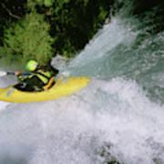 A Kayaker Running A Beautiful Spirit Art Print