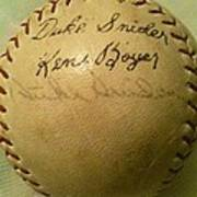 A Ken Boyer And Duke Snider Autograph Baseball Art Print