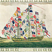 A King S Ship Dressed With The Colours Of Different Nations 6th October 1794 Art Print