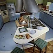 A Kitchen Designed By Ralph & Jane Bonnell Art Print