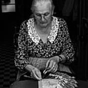 A Lacemaker In Bruges Art Print