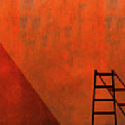 A Ladder And Its Shadow Art Print
