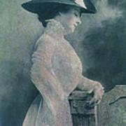 A Lady Ponders Art Print
