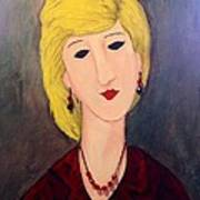 A Lady With Jewelry Art Print