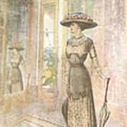 A Lady's Curious Reflection Art Print