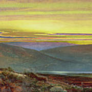 A Lake Landscape At Sunset Art Print
