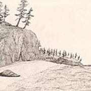 A Lakeshore... Sketch Art Print