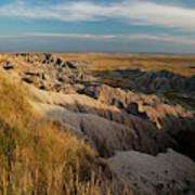 A Landscape Image Of Badlands National Art Print