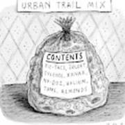 A Large Bag Is Centered In This Picture Art Print by Roz Chast