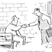 A Lawyer With A Briefcase Shakes The Hand Art Print
