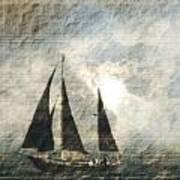 A Light Through The Storm - Sailing Art Print