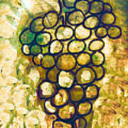 A Little Bit Abstract Grapes Art Print by Jo Ann