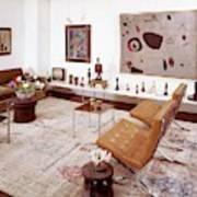 A Living Room Full Of Art Art Print