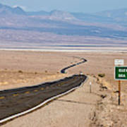 A Long Road Through Death Valley Art Print