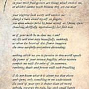 A Love Poem Art Print